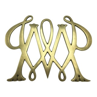 William and Mary Brass Trivet 1950