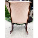 Image of 1940's French Rocking Chair - Wood Curved Arms