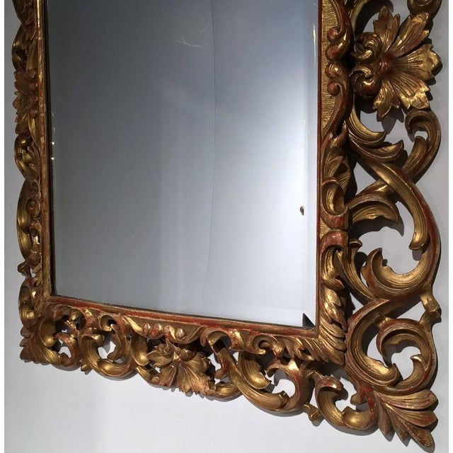 19th Century French Carved & Gold Leaf Rectangular Wall Mirror - Image 3 of 6