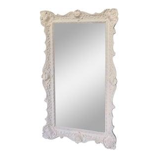 Baroque White Framed Mirror