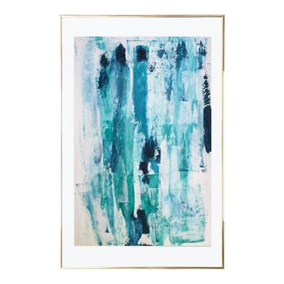 Arctic Ice Block Abstract Painting