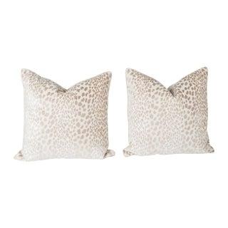 Velvet Spotted Cheetah Pillows - Pair