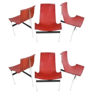 Set of Six T-Chairs by Katavolos, Little and Kelly