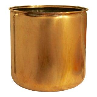Vintage Handmade Oversize Brass Planter
