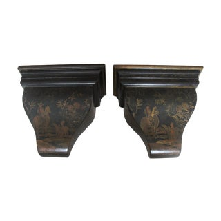 Painted Wood Wall Sconce Shelves- A Pair