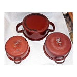 Image of Austrian Enamelware Pots - Set of 3