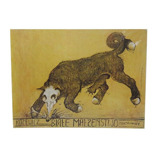 Biale Malzenstwo Rozewicz, Polish Theater Poster - Image 1 of 7