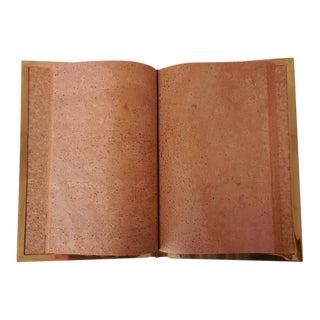 Rare Gabriella Crespi Cork and Brass Notebook