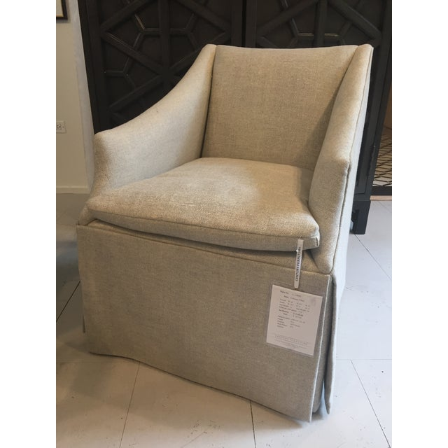 """Century Furniture Linen Skirted """"Coloney"""" Chair - Image 2 of 7"""