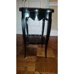 Image of Antique Black Asian Style Side Table