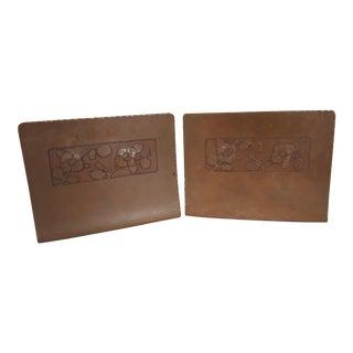 Arts & Crafts Vintage Copper Bookends