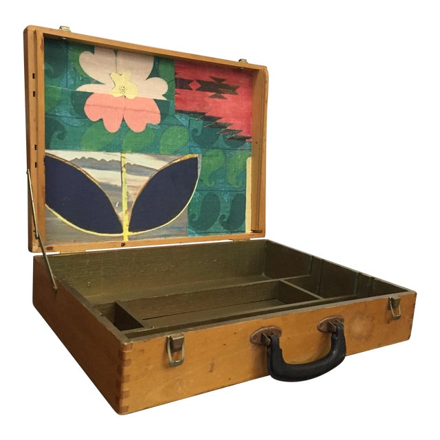Vintage Artist Box With Collage Interior - Image 1 of 8