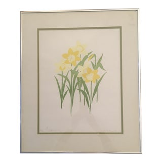 Daffodils Serigraph Signed and Numbered