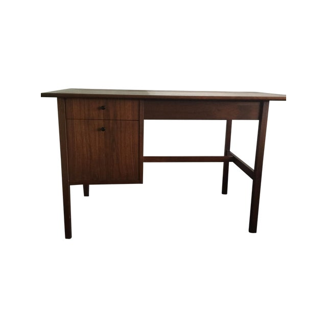 Mid-Century Modern Wooden Desk - Image 1 of 7