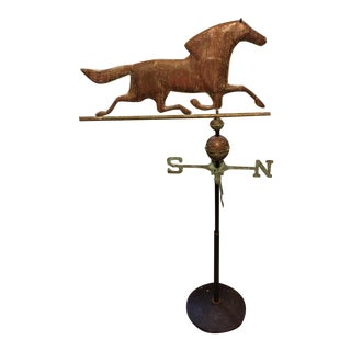 Copper Horse Weathervane on Stand