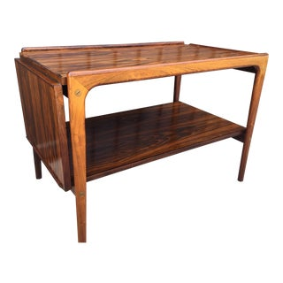 Mid Century Rosewood Drop Leaf Coffee Table