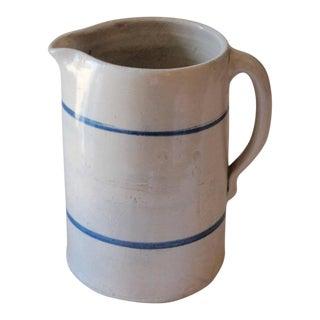 19th Century Handmade Stoneware Pitcher