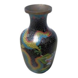 Black Dragon Cloisonne Vase