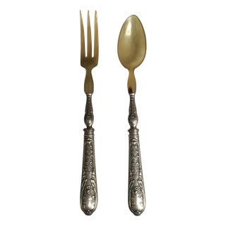 Plated Salad Utensils - A Pair