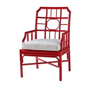 Selamat Designs Regent Antique Red Arm Chair