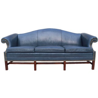 Leathercraft Leather Chippendale Style Sofa