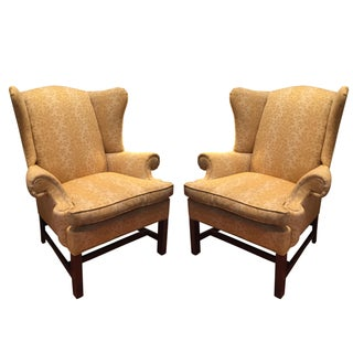 Repurposed Crate & Barrel Wingback Chairs - A Pair