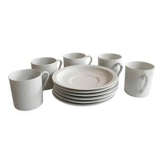 Mid-Century Arzberg 'Athena' Cups & Saucers - Set of 5