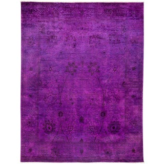 "Vibrance Over Dyed Hand Knotted Area Rug - 8'0"" X 10'4"""