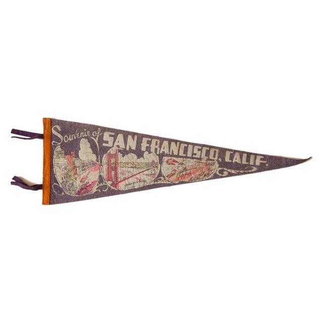 Image of Vintage 1940s San Francisco Felt Flag