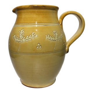 French Pottery Leaf Pitcher