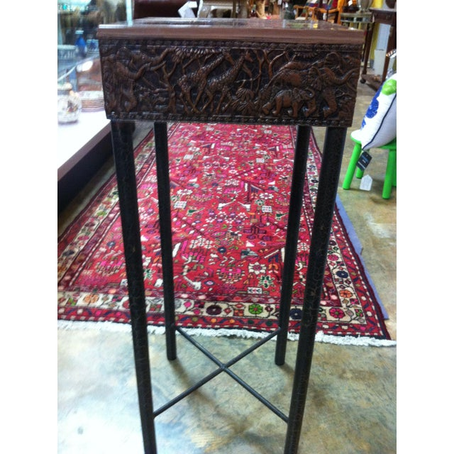Image of Metal and Ceramic Side Table