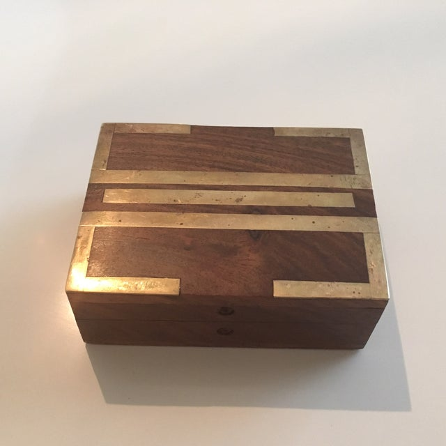 Wood Box With Brass Inlay - Image 3 of 8