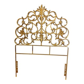 Hollywood Regency Gilded Twin Headboards - Set of 2
