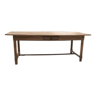 Antique Pale Blonde Beech Farm Table