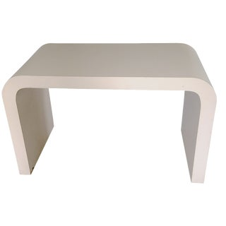 Springer-Style Waterfall Console Desk