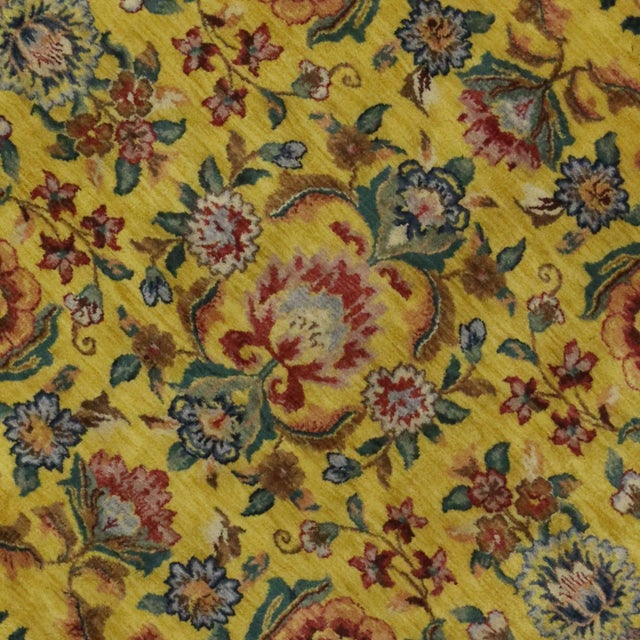 """Vintage Traditional Style Yellow Area Rug - 7'10"""" x 9'9"""" - Image 4 of 5"""