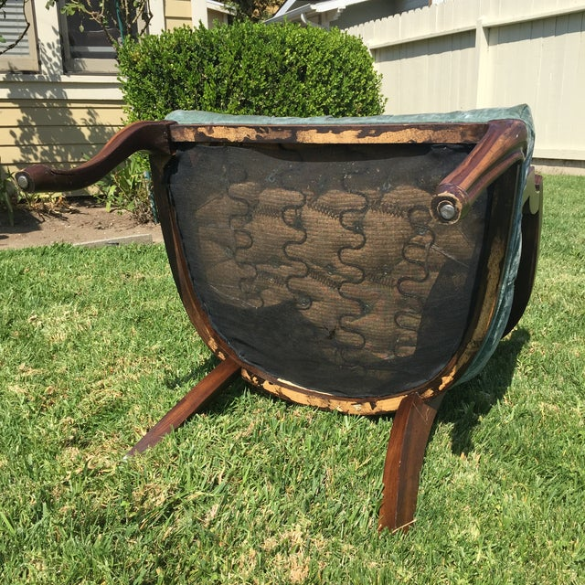 Mid-Century Cane Barrel Chair - Image 11 of 11