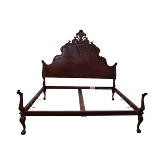 Ralph Lauren King Size French Louis XV Style Carved Bed