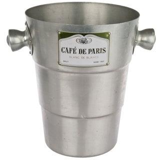 Café de Paris Aluminum Champagne Bucket