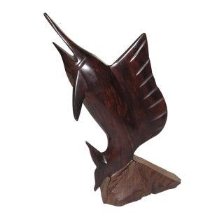 Hand Carved Brazillian Mahogany Sailfish