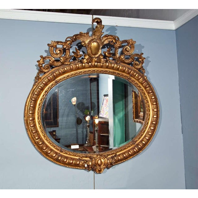 French baroque style gilded mirror chairish for Gilded baroque mirror