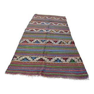 "Traditional Turkish Kilim Rug - 4'5"" x 9'5"""