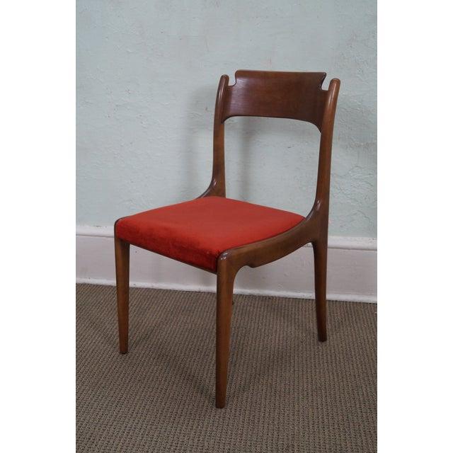 Italian Walnut Midcentury Modern Dining Chairs - 6 - Image 6 of 10