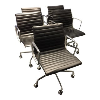 Eames Aluminum Group Management Chairs - Set of 5