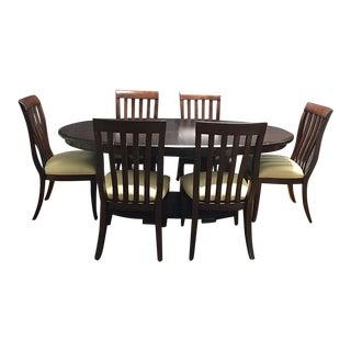 Bernhardt Double Pedestal Oval Dining Set - Set of 7