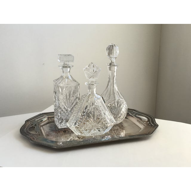 Vintage Silver Tray & Decanters - Set of 4 - Image 2 of 7