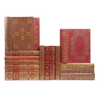 Ornate Earthtone Classic Books - Set of 15