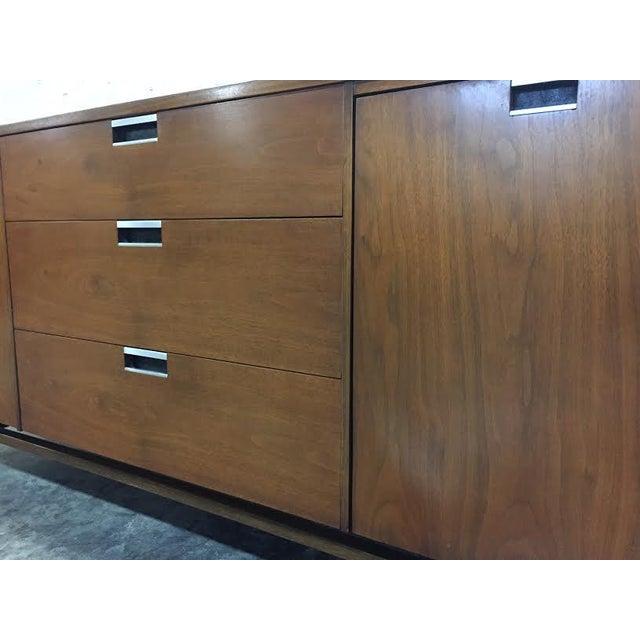Walnut Mid-Century Modern Dresser & Mirror - Image 3 of 11