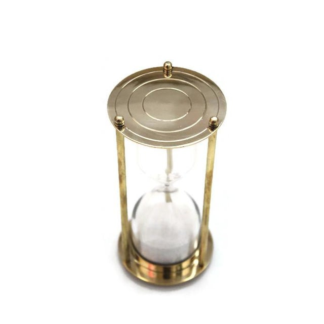 Image of Brass Hourglass 5 Minute Sand Timer