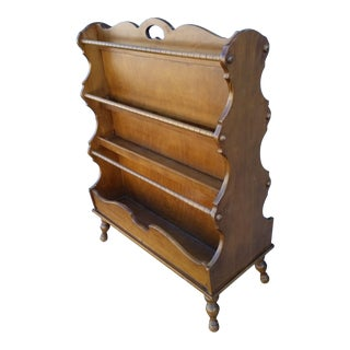 Butler Co. Mid-Century Maple Three-Tiered Magazine Rack